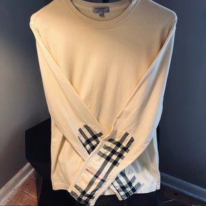 Burberry Light Yellow Arm Patch Long Sleeve M
